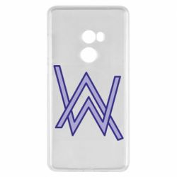 Чехол для Xiaomi Mi Mix 2 Alan Walker neon logo