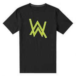 Мужская стрейчевая футболка Alan Walker neon logo