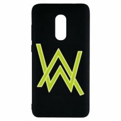 Чехол для Xiaomi Redmi Note 4 Alan Walker neon logo