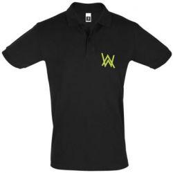 Мужская футболка поло Alan Walker neon logo