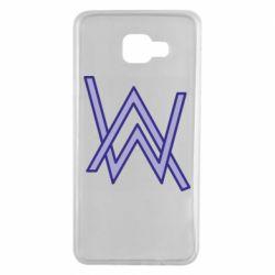 Чехол для Samsung A7 2016 Alan Walker neon logo