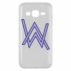 Чехол для Samsung J2 2015 Alan Walker neon logo