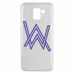Чехол для Samsung J6 Alan Walker neon logo