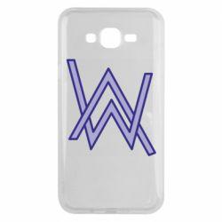 Чехол для Samsung J7 2015 Alan Walker neon logo