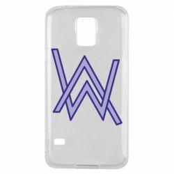 Чехол для Samsung S5 Alan Walker neon logo