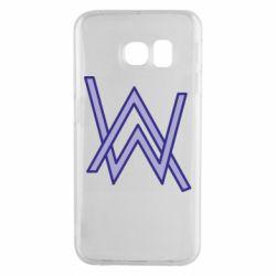 Чехол для Samsung S6 EDGE Alan Walker neon logo