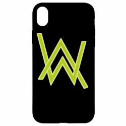 Чехол для iPhone XR Alan Walker neon logo