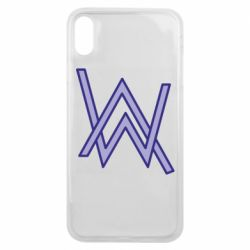 Чехол для iPhone Xs Max Alan Walker neon logo