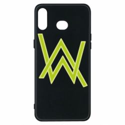 Чехол для Samsung A6s Alan Walker neon logo
