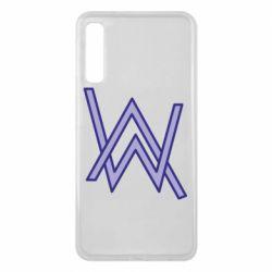 Чехол для Samsung A7 2018 Alan Walker neon logo