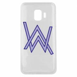 Чехол для Samsung J2 Core Alan Walker neon logo