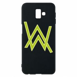 Чехол для Samsung J6 Plus 2018 Alan Walker neon logo