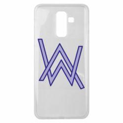 Чехол для Samsung J8 2018 Alan Walker neon logo