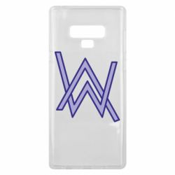 Чехол для Samsung Note 9 Alan Walker neon logo