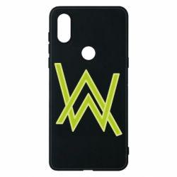 Чехол для Xiaomi Mi Mix 3 Alan Walker neon logo