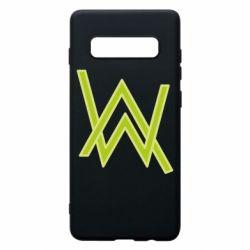 Чехол для Samsung S10+ Alan Walker neon logo