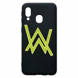 Чехол для Samsung A40 Alan Walker neon logo