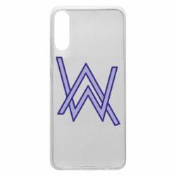 Чехол для Samsung A70 Alan Walker neon logo