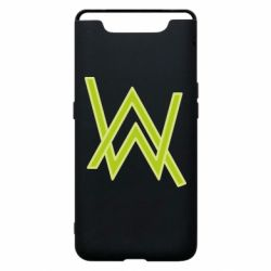Чехол для Samsung A80 Alan Walker neon logo