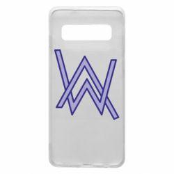 Чехол для Samsung S10 Alan Walker neon logo