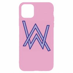 Чехол для iPhone 11 Alan Walker neon logo