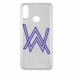 Чехол для Samsung A10s Alan Walker neon logo