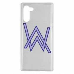 Чехол для Samsung Note 10 Alan Walker neon logo