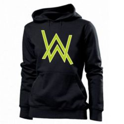 Женская толстовка Alan Walker neon logo