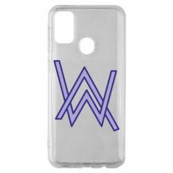 Чехол для Samsung M30s Alan Walker neon logo