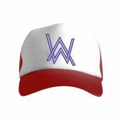 Детская кепка-тракер Alan Walker neon logo