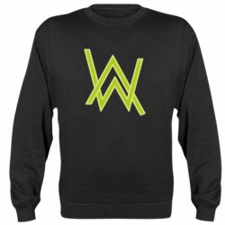 Реглан (свитшот) Alan Walker neon logo