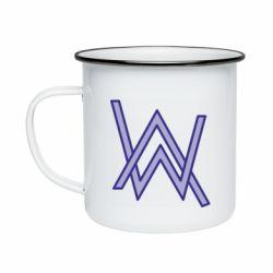 Кружка эмалированная Alan Walker neon logo
