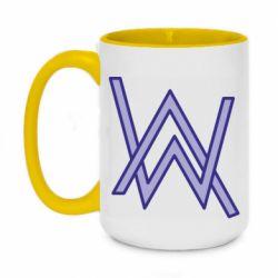 Кружка двухцветная 420ml Alan Walker neon logo
