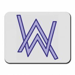 Коврик для мыши Alan Walker neon logo