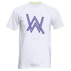 Мужская спортивная футболка Alan Walker neon logo