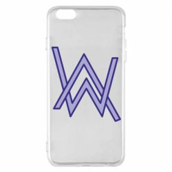 Чехол для iPhone 6 Plus/6S Plus Alan Walker neon logo