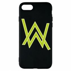 Чехол для iPhone 7 Alan Walker neon logo
