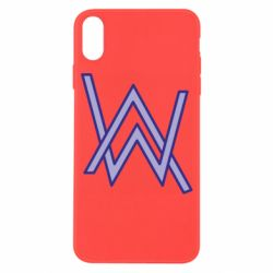 Чехол для iPhone X/Xs Alan Walker neon logo