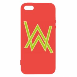 Чехол для iPhone5/5S/SE Alan Walker neon logo
