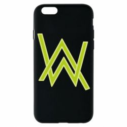 Чехол для iPhone 6/6S Alan Walker neon logo