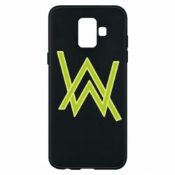 Чехол для Samsung A6 2018 Alan Walker neon logo