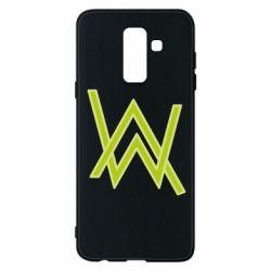 Чехол для Samsung A6+ 2018 Alan Walker neon logo