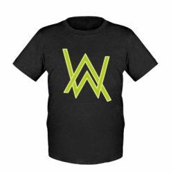 Детская футболка Alan Walker neon logo