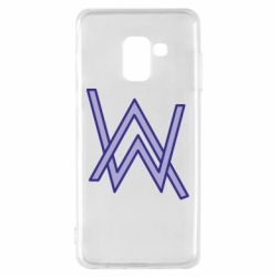 Чехол для Samsung A8 2018 Alan Walker neon logo