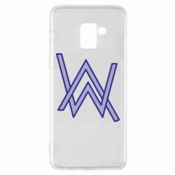 Чехол для Samsung A8+ 2018 Alan Walker neon logo