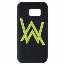 Чехол для Samsung S7 Alan Walker neon logo