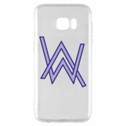 Чехол для Samsung S7 EDGE Alan Walker neon logo
