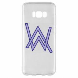 Чехол для Samsung S8+ Alan Walker neon logo