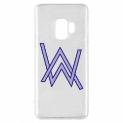 Чехол для Samsung S9 Alan Walker neon logo