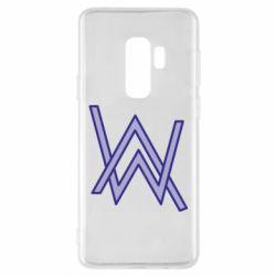 Чехол для Samsung S9+ Alan Walker neon logo